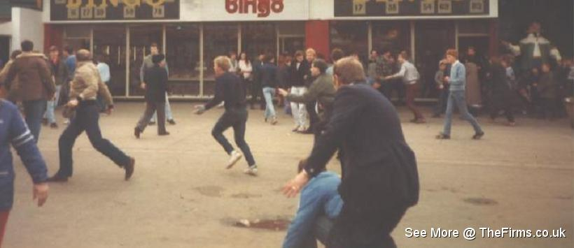Wigan & Leeds in Blackpool 80's 2
