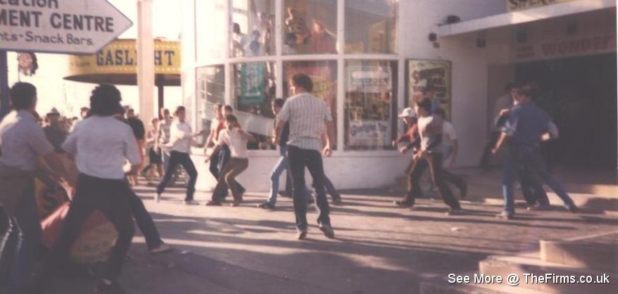 Wigan & Leeds in Blackpool 80's 5