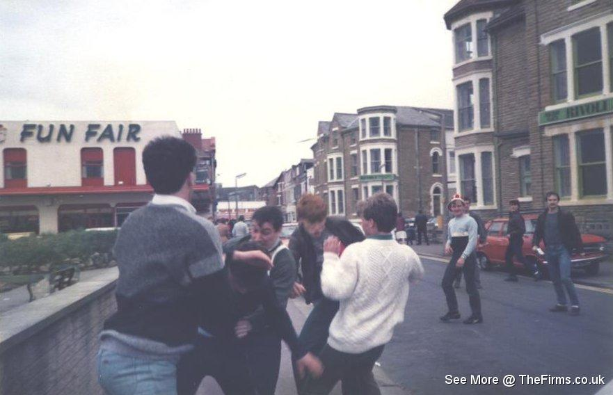 Wigan & Leeds in Blackpool 80's 9